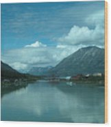 Carcross - So Much Blue Wood Print