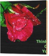 Card Wood Print