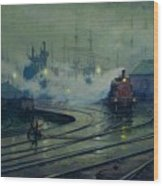 Cardiff Docks Wood Print