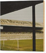 Cardiff - Ninian Park - East Stand Railway Side 1 - 1970s Wood Print