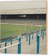 Cardiff - Ninian Park - East Stand Railway Side 3 - August 1991 Wood Print