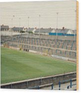 Cardiff - Ninian Park - South Stand Grange End 1 - August 1991 Wood Print