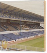 Cardiff - Ninian Park - West Stand 4 - October 1993 Wood Print
