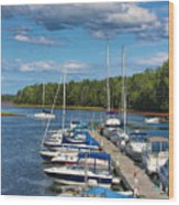 Cardigan Wharf Wood Print