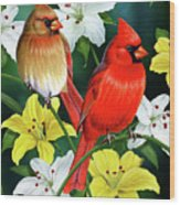 Cardinal Day 2 Wood Print by JQ Licensing