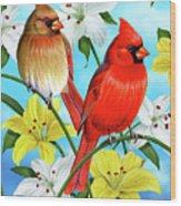 Cardinal Day Wood Print