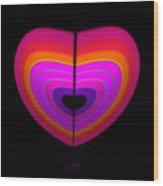 Cardinal Heart Wood Print