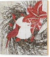 Cardinal Holiday I Wood Print