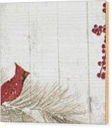 Cardinal Holiday IIi Wood Print