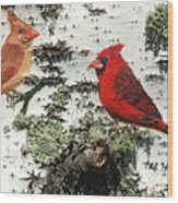 Cardinal Pair II Wood Print