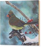 Cardinal Queen Wood Print