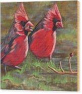 Cardinal Two Wood Print