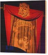 Caretaker Banner Wood Print