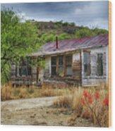 Cargill Residence At Ruby Arizona Wood Print