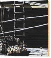 Cargo Loading Wood Print