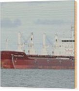 Cargo Ship Four Emerald Wood Print