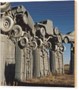 Carhenge In The Afternoon Wood Print