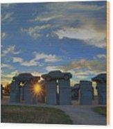 Carhenge - Nebraska - Sunset Wood Print