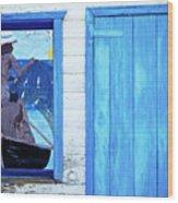 Caribbean Blues Wood Print