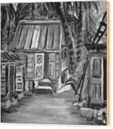 Caribbean Country House Wood Print