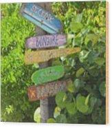 Caribbean Crossroads Wood Print