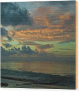 Caribbean Early Sunrise 2 Wood Print
