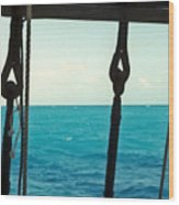 Caribbean From A Square Rigger Wood Print