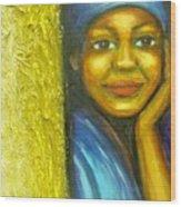 Caribbean Mystery Lady Wood Print