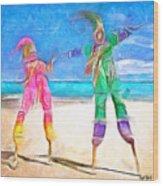 Caribbean Scenes - Moko Jumbie Wood Print