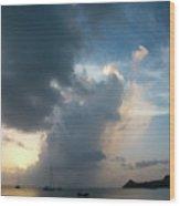 Caribbean Skies And Light 1 Wood Print
