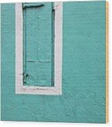 Caribbean Window Wood Print