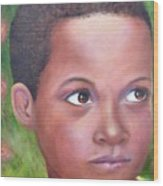 Caribe Child Wood Print