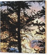 Cariboo District Sunset Wood Print