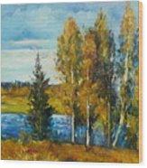 Cariboo Fall Wood Print
