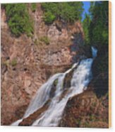 Caribou Falls Wood Print