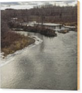 Caribou Stream Looking East Wood Print