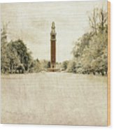 Carillon In The Snow Wood Print