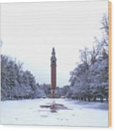 Carillon In Winter Wood Print