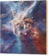 Carina Nebula Pillar Wood Print