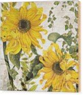 Carina Sunflowers Wood Print