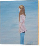 Carlee By The Sea Wood Print