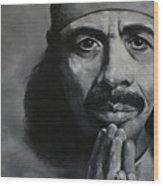 Carlos Santana - Peace Wood Print