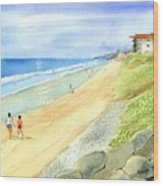 Carlsbad Beach Wood Print