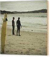 Carmel Beach, Ca Wood Print