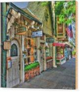 Carmel, Ca. The Shops Of Ocean Ave. Wood Print