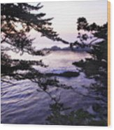 Carmel Highlands Sunset 1 Wood Print