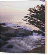 Carmel Highlands Sunset 2 Wood Print