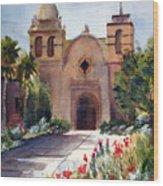 Carmel Mission Basilica Wood Print