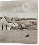 Carmel Mission Circa 1920 Wood Print
