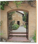 Carmel Mission Path Wood Print